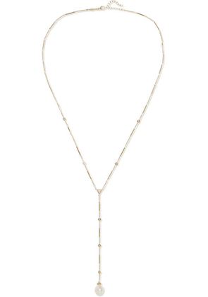 Jacquie Aiche - 14-karat Gold, Diamond And Pearl Necklace - one size