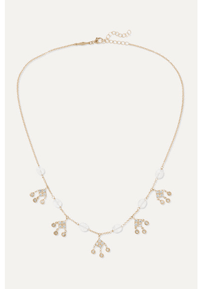 Jacquie Aiche - Shaker 14-karat Gold, Moonstone And Diamond Necklace - one size