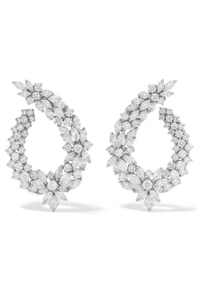 YEPREM - 18-karat White Gold Diamond Earrings - one size