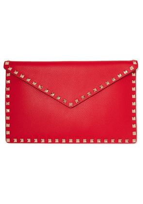 Valentino - Valentino Garavani Rockstud Large Textured-leather Pouch - One size