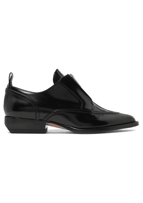 Chloé - Rylee Glossed-leather Brogues - Black