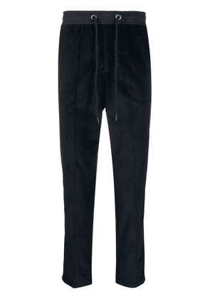 Entre Amis textured woven trousers - Blue