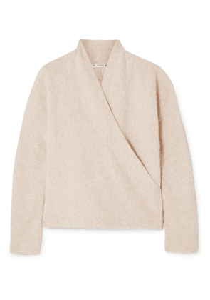 Vince - Wrap-effect Cashmere Sweater - Stone
