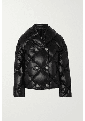 Balmain - Double-breasted Quilted Shell Down Jacket - Black