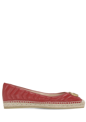 20mm Pilar Leather Espadrille Ballerinas