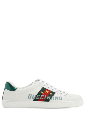 New Ace Gucci Band Leather Sneakers