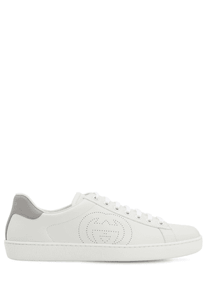 New Ace Gg Interlock Leather Sneakers