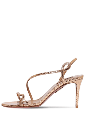 75mm Serpentine Embossed Leather Sandals