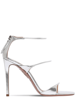 105mm Minute Metallic Leather Sandals