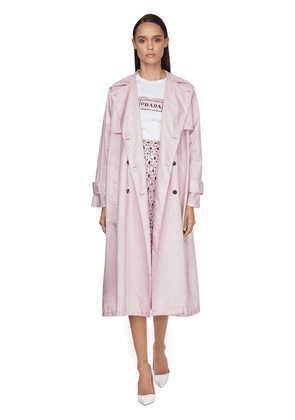 Double Breasted Nylon Trench Coat