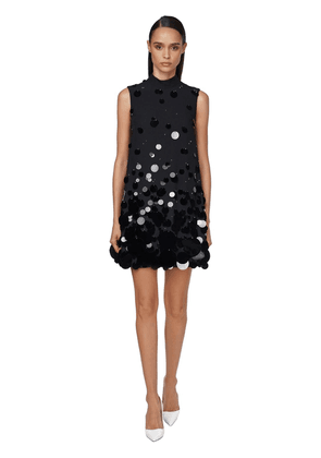 Sequined Sable Mini Dress