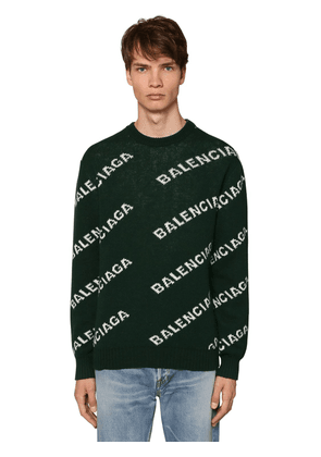 All Over Logo Wool Jacquard Sweater