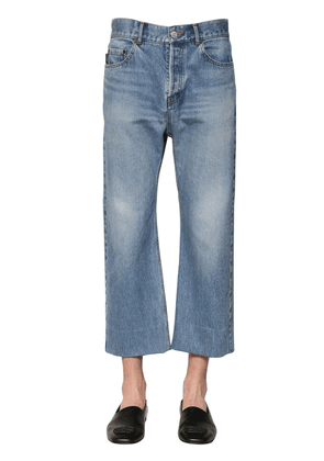 Cropped Cotton Denim Jeans