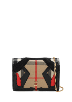 Jessie Patchwork Check Chain Wallet