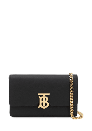 Carrie Grained Leather Chain Wallet