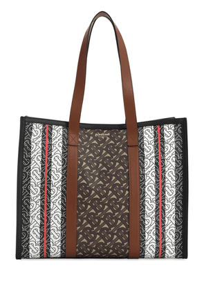 Sm Book Monogram & Canvas Tote Bag