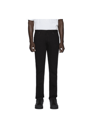 Fendi Black FF Velvet Tape Jeans