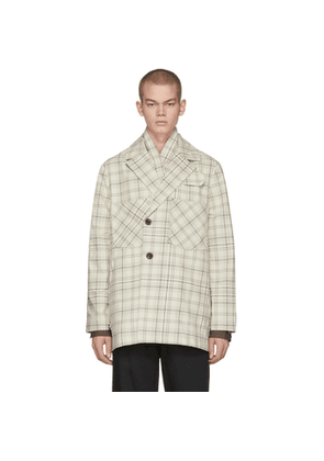 LHomme Rouge Off-White Story Check Jacket