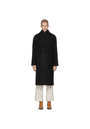 LHomme Rouge Black Recycled Wool Coat