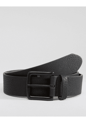 ASOS DESIGN faux leather wide belt with black coated buckle