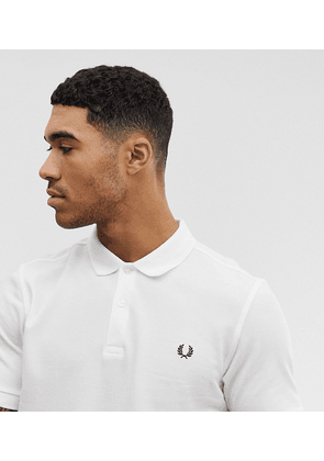 Fred Perry plain polo shirt in white Exclusive at ASOS
