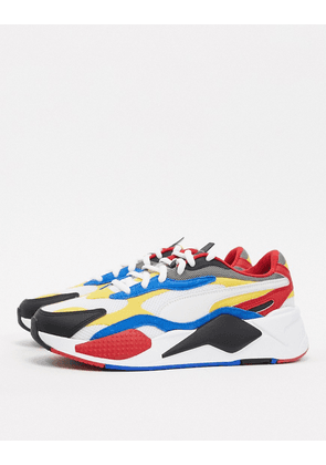 Puma RS-X3 Puzzle trainers in red multi