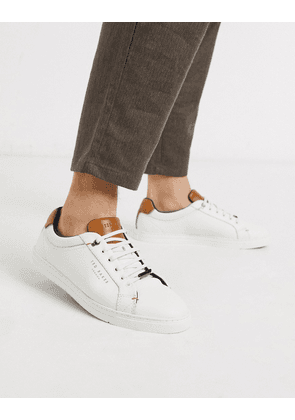 Ted Baker Thwally trainers in white leather