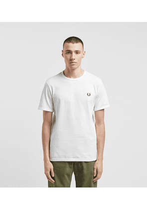 Fred Perry Ringer T-Shirt, White