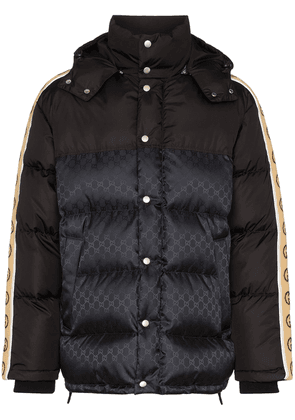 Gucci GG stripe puffer coat - Black