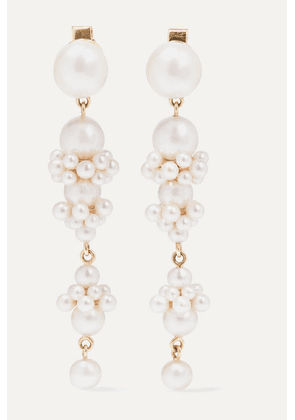 Sophie Bille Brahe - + Cecilie Bahnsen Tulip Perle 14-karat Gold Pearl Earrings - one size