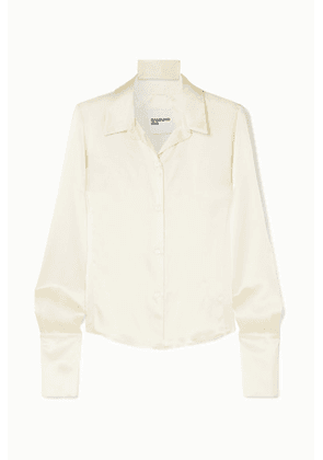 Orseund Iris - Silk-satin Shirt - Cream