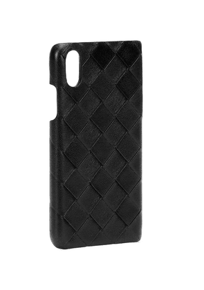 Intrecciato leather iPhone X/XS case