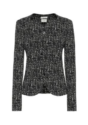 Tweed wool and cotton blazer