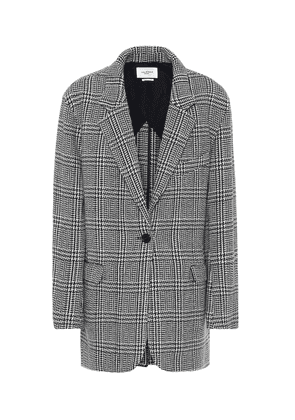 Ondine checked wool-blend jacket
