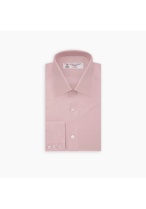 Pink Superfine Oxford Cotton Shirt with T & A Collar and 3-Button Cuffs