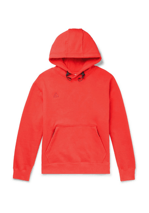 Nike - Acg Nrg Logo-embroidered Fleece-back Cotton-blend Jersey Hoodie - Red