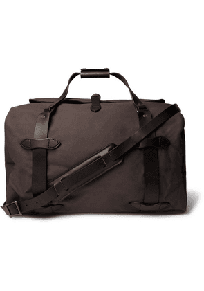 Filson - Leather-trimmed Twill Duffle Bag - Anthracite