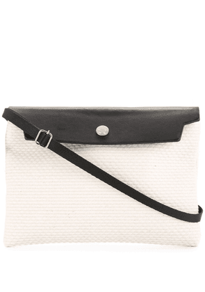 Cabas contrast flap mini bag - White