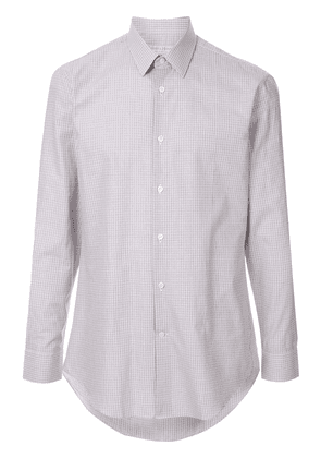 Gieves & Hawkes checked formal shirt - Brown