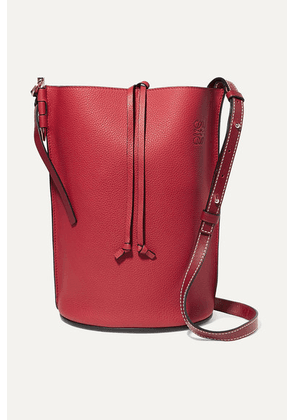 Loewe - Gate Textured-leather Bucket Bag - one size