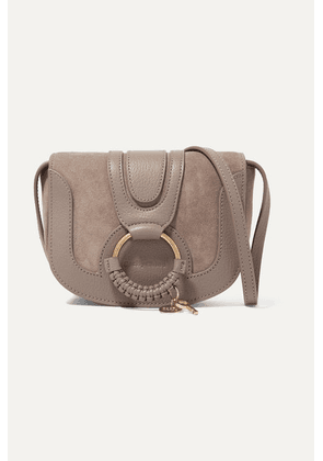 See By Chloé - Hana Mini Textured-leather And Suede Shoulder Bag - Gray