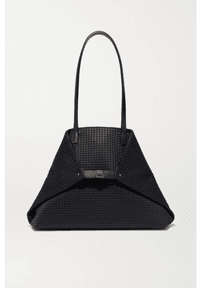 Akris - Ai Large Leather-trimmed Embossed Canvas Tote - Black