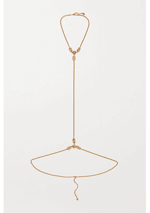 Versace - Gold-tone Body Chain - one size