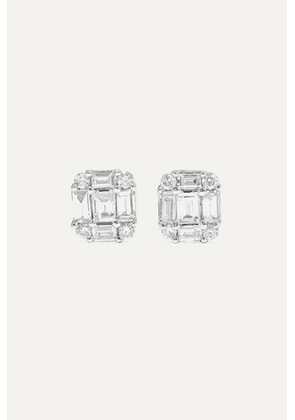 STONE AND STRAND - Shield Of Strength Gold Diamond Earrings - one size