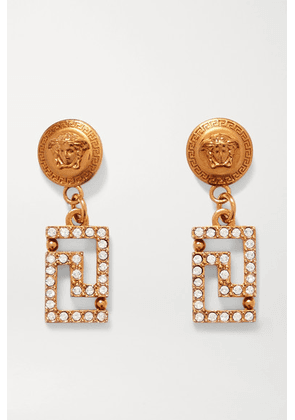 Versace - Gold-tone Crystal Earrings - one size