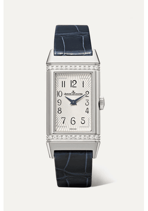 Jaeger-LeCoultre - Reverso One Medium 20mm Stainless Steel, Diamond And Alligator Watch - Silver