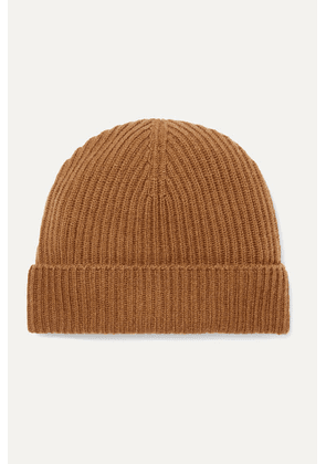 Johnstons of Elgin - Ribbed Cashmere Beanie - Brown