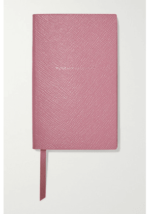 Smythson - Yummy Mummy Textured-leather Notebook - Pink