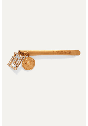 Versace - Gold-tone Crystal Hair Slide - one size