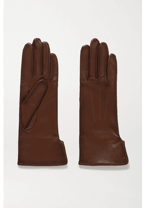 Agnelle - Fanny Leather Gloves - Chocolate